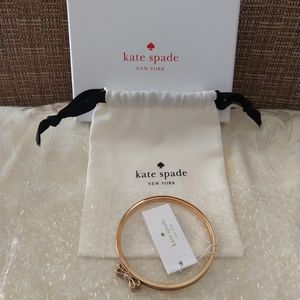 NWT Kate Spade Moon River Glitter Rose Gold Bangle